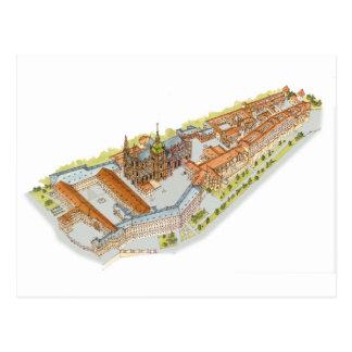 Cartão Postal Castelo de Praga. República checa de Praga