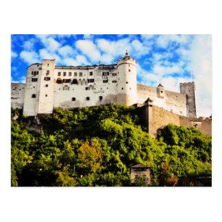 Cartão Postal Castelo de Salzburg