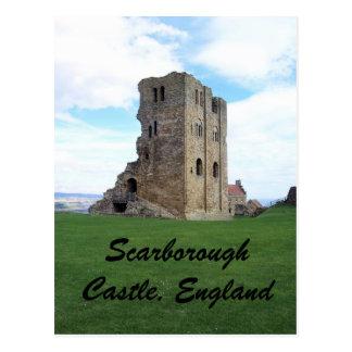 Cartão Postal Castelo de Scarborough, Inglaterra