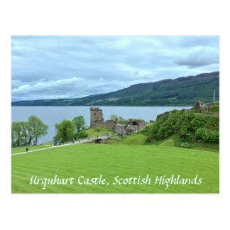 Cartão Postal Castelo de Urquhart que negligencia Loch Ness nas