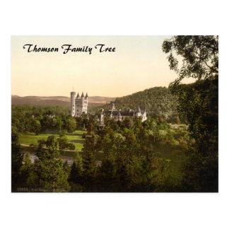 Cartão Postal Castelo do Balmoral, Deeside real, Scotland