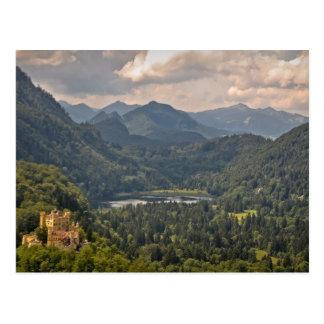 Cartão Postal Castelo em Baviera, Alemanha de Hohenschwangau