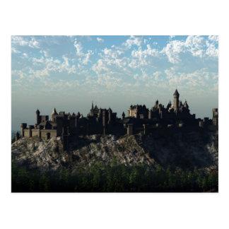 Cartão Postal Castelo medieval da cume