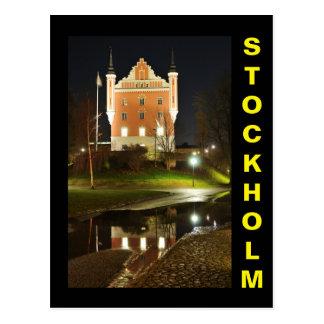 Cartão Postal Castelo medieval em Éstocolmo, suecia