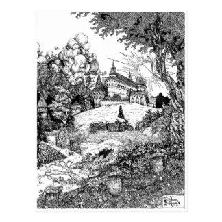 Cartão Postal Castelo no monte