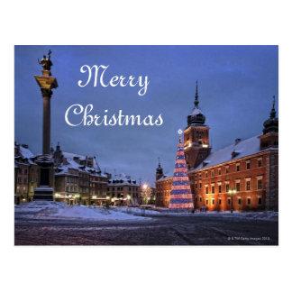 Cartão Postal Castelo no tempo do Natal