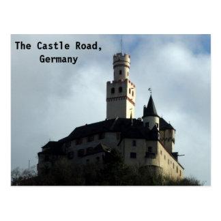 Cartão Postal Castelo no vale de Rhine