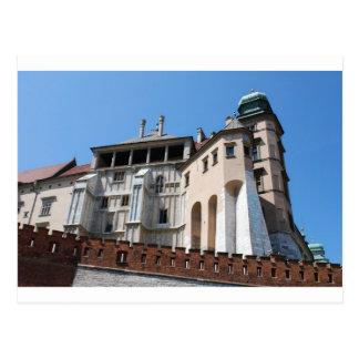 Cartão Postal Castelo real de Wawel em Cracow