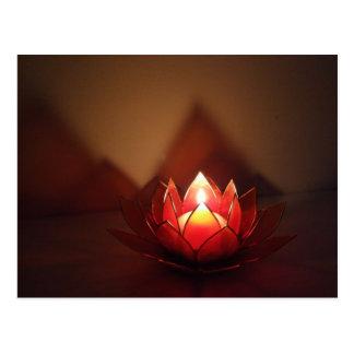 Cartão Postal Castiçal de Lotus