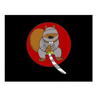 Cartão Postal Castor de Ninja