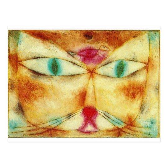 Cartão Postal Cat and Bird - Paul Klee