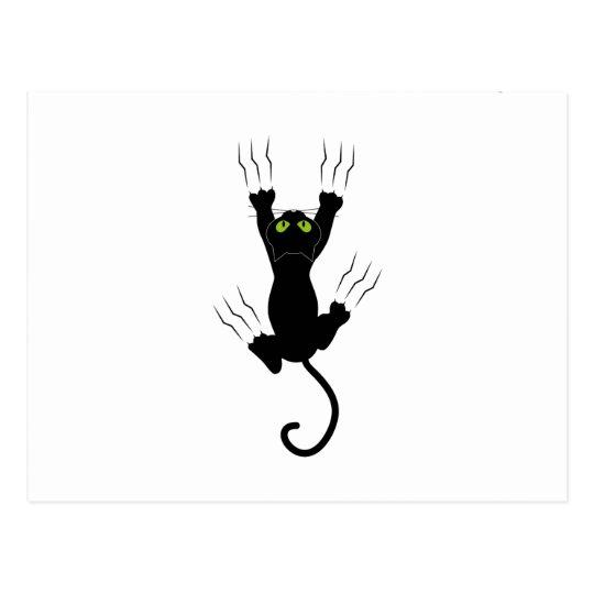 Cartão Postal cat claws gato com garras