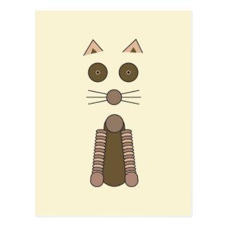 Cartão Postal CAT de gato malhado