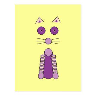 Cartão Postal CAT roxo
