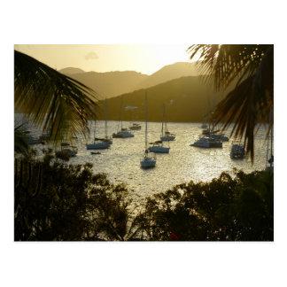 Cartão Postal Catamarãs e veleiros
