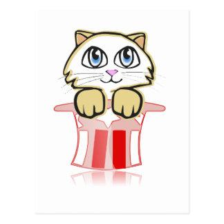 Cartão Postal cate mágico bonito