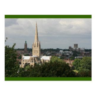 Cartão Postal Catedrais de Norwich