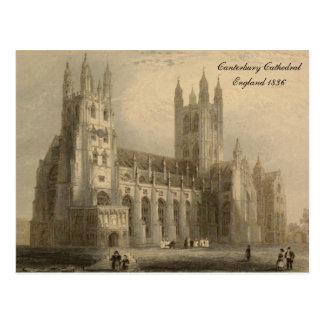 Cartão Postal Catedrais de séries de Inglaterra: Canterbury 1836