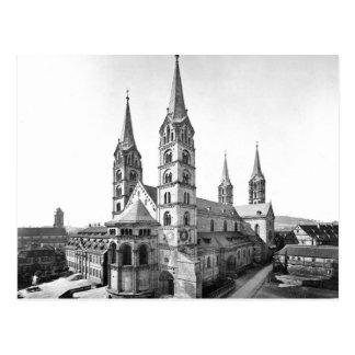 Cartão Postal catedral de Bamberga da igreja dos DOM Alemanha