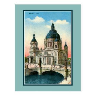 Cartão Postal Catedral de Berlim do vintage (os DOM)