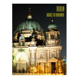 Cartão Postal Catedral de Berlim (os DOM do berlinês)