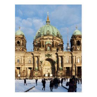Cartão Postal Catedral de Berlim, os DOM do berlinês, Alemanha