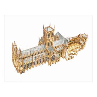 Cartão Postal Catedral de Canterbury. Grâ Bretanha