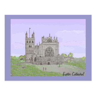 Cartão Postal Catedral de Exeter