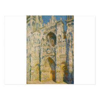 Cartão Postal Catedral de Rouen, o portal e o ` Allban da torre