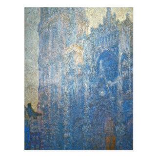 Cartão Postal Catedral de Rouen, o portal e o d'Albane da