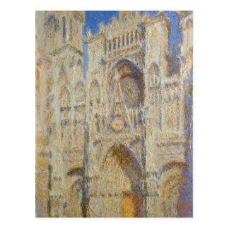 Cartão Postal Catedral de Rouen, portal no Sun por Claude Monet