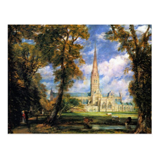 Cartão Postal Catedral de Salisbúria de Terra do Bishop