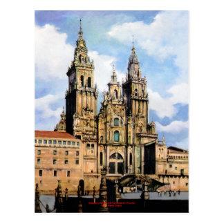 Cartão Postal Catedral de Santiago de Compostela (A Coruña)