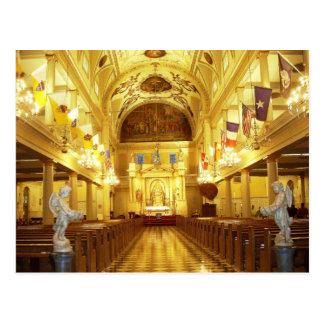 Cartão Postal Catedral de St Louis (interior), Nova Orleães, LA