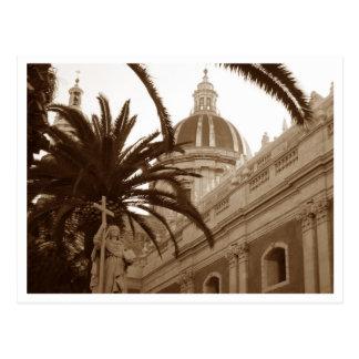 Cartão Postal Catedral do santo Agata em Catania, Sicília,