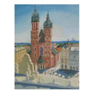 Cartão Postal Catedral ensolarada de Krakow