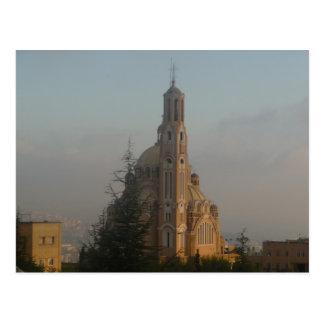 Cartão Postal Catedral Líbano de Jounieh