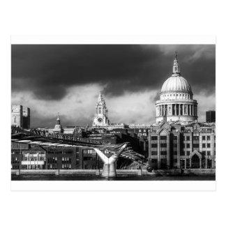 Cartão Postal Catedral Londres de Pauls da rua