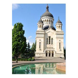 Cartão Postal Catedral ortodoxo em Cluj Napoca, Romania