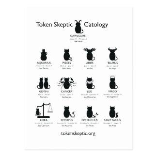 Cartão Postal Catology céptico simbólico/astrologia