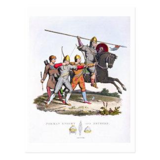 Cartão Postal Cavaleiro e arqueiros normandos, 1066, 'do braço