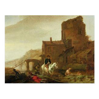 Cartão Postal Cavaleiro e Bather