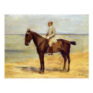 Cartão Postal Cavaleiro máximo de Liebermann- na praia que