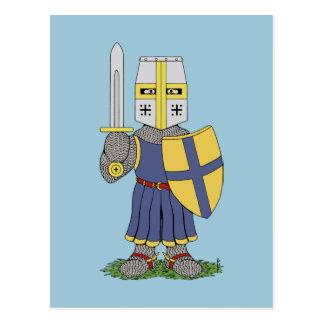 Cartão Postal Cavaleiro medieval bonito