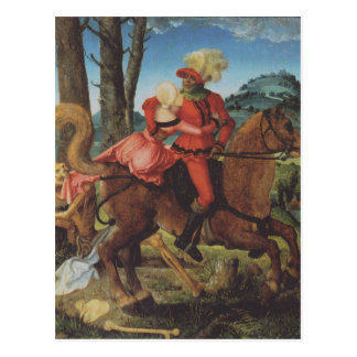Cartão Postal Cavaleiro, morte e menina por Hans Baldung