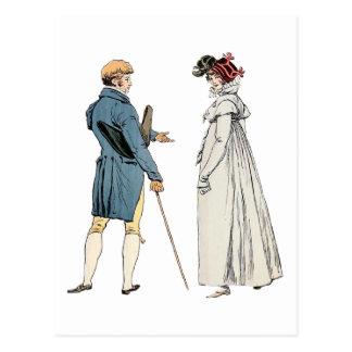 Cartão Postal Cavalheiro e senhora do Victorian