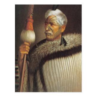 Cartão Postal Cavalheiro maori