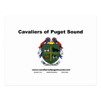 Cartão Postal Cavaliers do clube Card2 de Puget Sound