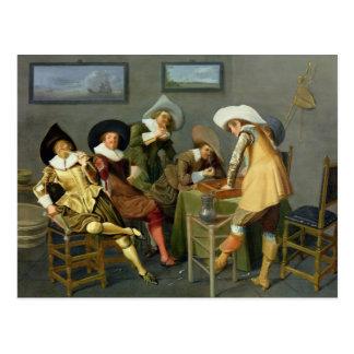 Cartão Postal Cavaliers em uma taberna