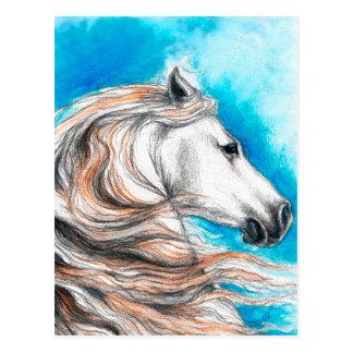 Cartão Postal Cavalo andaluz do garanhão
